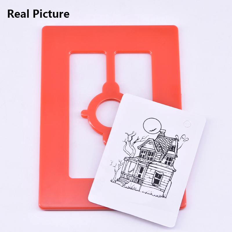 Magic-Penetration-Frame-Pencil-Through-Card-and-Frame-Magic-Tricks-Magician-Close-Up-Gimmick-Props-Mentalism