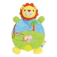 1 pc 21*30 Cm Cute Cartoon Plush Baby Toys High Quality Baby Cloth Toy Children Early Education Crib Rattle For Activity Train(China)