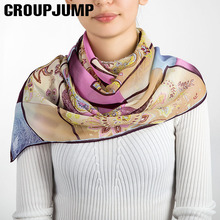 Brand Design Square Scarf Women Flower Pattern Ethnic Style Scarves Female Shawls Winter Scarf Ladies Shawl&Scarf 130*130CM(China)