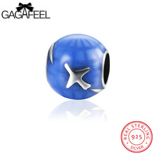 GAGAFEEL Genuine Sterling Silver Seabirds Bead Fit For Pandora Charms Necklace Bracelet Chains Animal Design Women Men Jewelry(China)