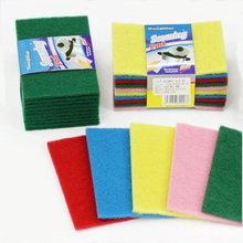 10Pcs/Set Colorful Scouring Pad Dish Cloth Rag Cleaning Cloth Wipes Strong Decontamination Dish Towels