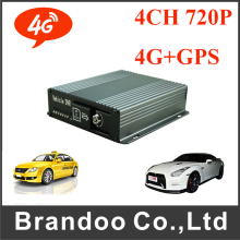 Car Surveillance Mobile DVR Best 4CH 720P Car DVR HD MDVR 4G+GPS(China)