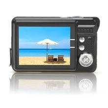 New Mini Digital Camera 8x Digital Zoom Digital Photo Frame 2.7 inch 5MP COMS HD 18MP Resolution Video Recoding 3 Colors