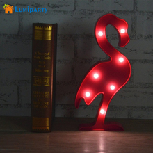 LumiParty Cute Flamingo Night Light LED Marquee Sign Letter Pineapple Cactus Lights Home Decor For Party Wedding Kids Room Gift