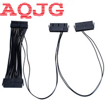 24Pin 20+4pin Dual PSU ATX Power Supply Adaptor Cable Connector for Mining 30cm AQJG