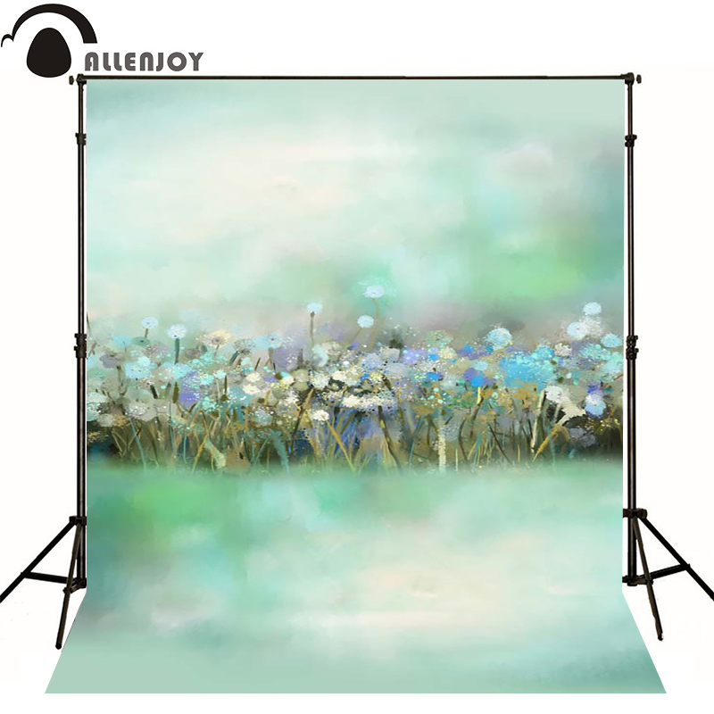 Allenjoy photography backdrops Fuzzy green flower bokeh backgrounds for photo studio Custom size<br><br>Aliexpress
