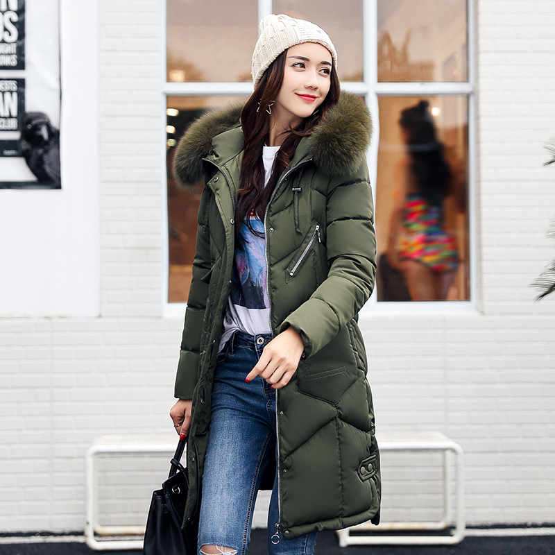 Winter Jacket Womens New Female Padded Jackets Cotton Wave Jacket Girls Big Fur Hooded Warm Parkas Coat Outwear With Big PocketÎäåæäà è àêñåññóàðû<br><br>