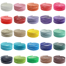 Flat Braided Imitation Leather 5mm String Jewelry Cord diy Accessories Flat Woven Leatheroid Braided Rope for Bracelet