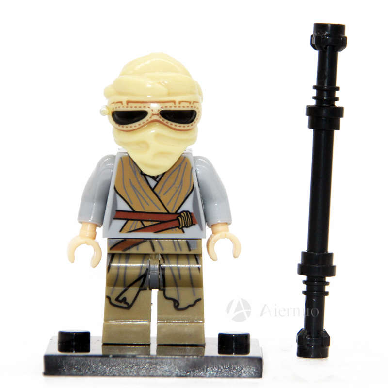 No.196 Rey star wars TFA The Force Awakens Individual minifigure super hero compatible With Legoe single sell<br><br>Aliexpress