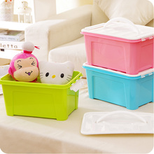 1PC Sundries plastic storage box colorful fashion portable children's toy storage box strong and durable