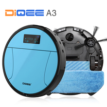 DIQEE A3 Smart Robot Vacuum Cleaner for Home Automatic charging Sweeping Dust Sterilize Gyro navigation Planned Water mop(China)