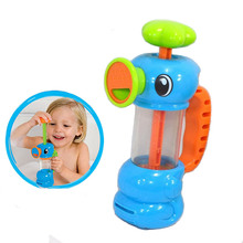 2016 New Funny Baby Water Toys Hippocampus Style Bath Toys Pool Spraying Tool For Children Bathroom Games Kids Shower Water Toys