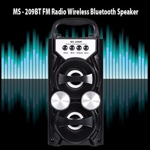 Redmaine MS-209BT Portable Wireless Bluetooth Speaker FM Radio High Power Output AUX TF USB Music Speakers Loudspeaker