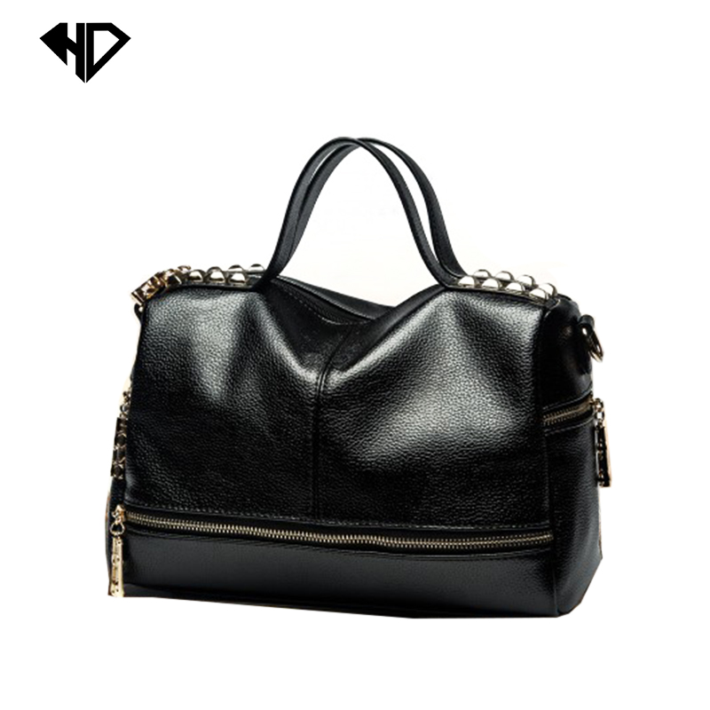Rivet Women Handbag Fashion trend bag Tassel Messenger Bag Vintage Shoulder Bag Large Top-Handle Bags Mummy Package FreeShipping<br><br>Aliexpress