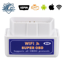 Super Mini WIFI ELM327 ElM 327 Wi-Fi V1.5 OBD2 II Car Diagnostic Tool OBD 2 Scanner Interface Supports Android/iOS/Windows(China)