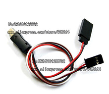Free Shipping Gopro Hero 3 USB 90 Degree to AV Video Output & 5V DC Power BEC Input Cable FPV Y30372
