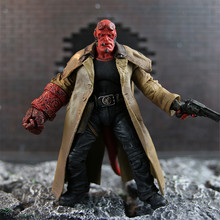 2 Styles 18cm MEZCO Hellboy PVC Action Figure Collectible Model Toy