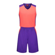 2017 red Men's wear Sleeveless basketball jersey blank  suit adult  breathable sweat absorbs quickly comfortable training pants