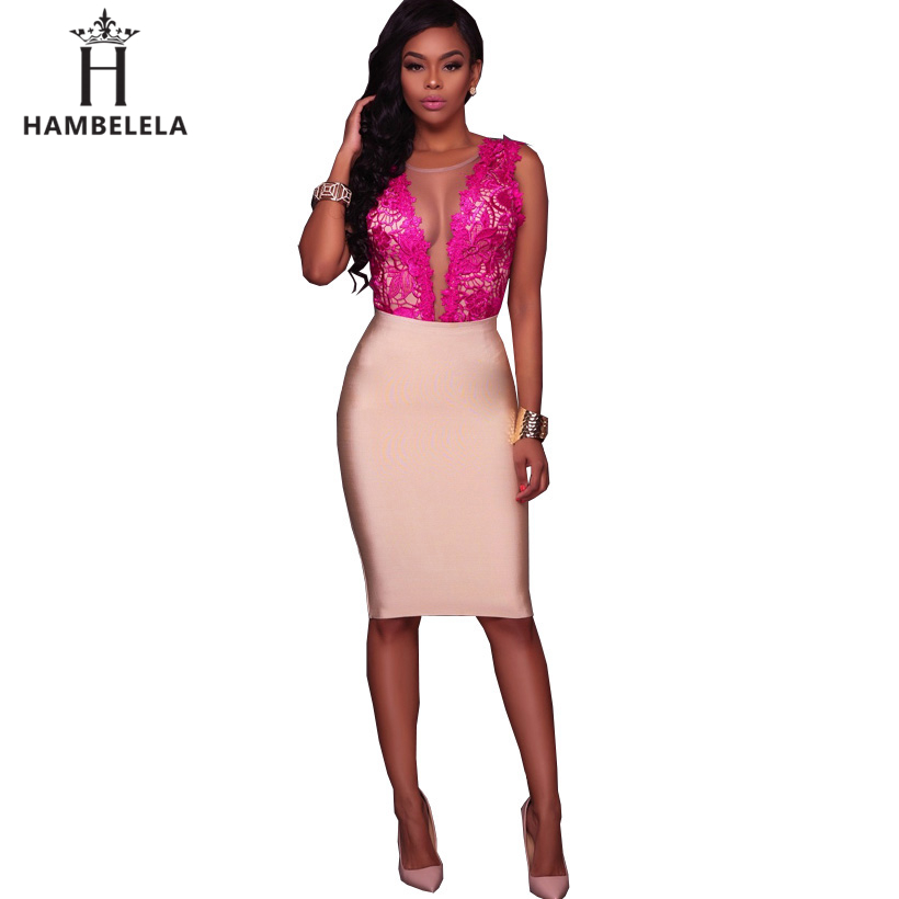 HAMBELELA Body Lace Summer Playsuit Bodycon Sleeveless Patchwork Sexy Bodysuit Feminino 2018 Women Romper Hollow Out Overalls (4)