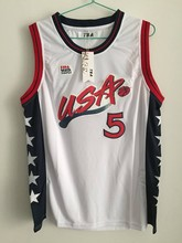 #5 Grant Hill Team USA Vintage Throwback Basketball Jerseys, Retro Men cheap Customized Embroi(China)
