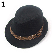 Hot Sale Kids' Fashion Cool Jazz Pitched Crown Hat Cap Short Brim Fedora Hat In Stock Fast Ship Baseball Cap(China)