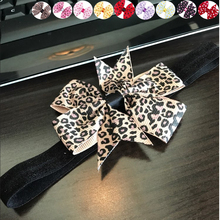 Newly Design Lovely Sweet Children's Elastic Force Hair Band Princess Baby Girl Round Dot Bowknot Leopard Hairband June9(China)