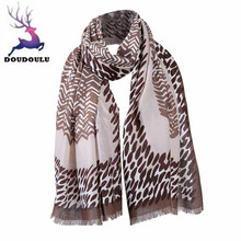 DOUDOULU 2017 New Lady Women Stylish Leopard Prints Shawl Scarf Scarves patchwork color soft Shawl Scarf Cachecol Bufanda Mujer