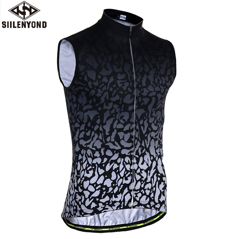 SIILENYOND Manfrend Sleeveless Cycling Jersey Quick-dry Bike Clothes Bicycle Clothing Hombre Ropa Maillot Ciclismo Cycling Vests