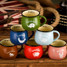 New 2017 High Quality Cute Mug Retro Creative Cartoon Enamel Cup Belly Milk Breakfast Cup Coffee Cup Tea Cup Lovely Ceramic Mug