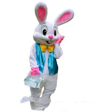 New Easter Bunny Mascot Costume Rabbit Cartoon Fancy Dress Adult Size(China)