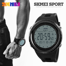 SKMEI Luxury Brand LED Digital Men Watch 50m Dive Waterproof Military Sport Watches For Men Multifunctional Casual Wristwatches(China)
