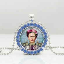 Buy 2017 New Frida Kahlo Crystal Necklace Glass Frida Kahlo Photo Pendant Jewelry Glass Cabochon Crystal Necklace for $1.29 in AliExpress store