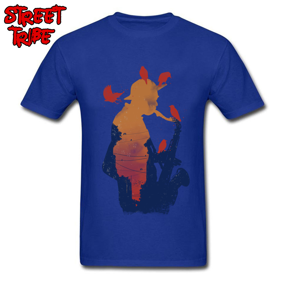 Mens Top T-shirts Even Birds Love it Crazy Tops T Shirt 100% Cotton Round Neck Short Sleeve Casual Tees Thanksgiving Day Even Birds Love it blue