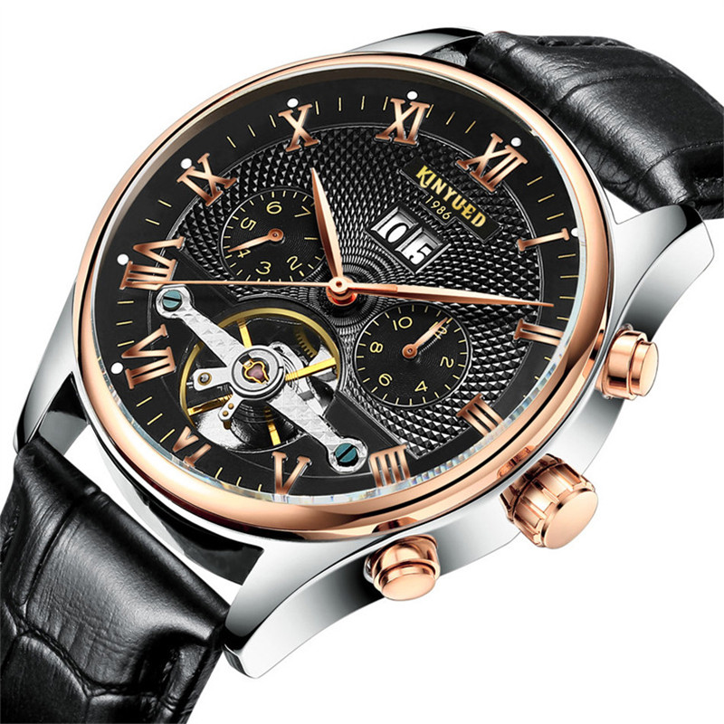 KINYUED5 mechanical mens watches, high quality precision waterproof wrist watch brand, automatic calendar leisure fashion watch<br><br>Aliexpress