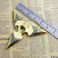 Game OW Genji Shuriken Zinc Alloy Darts Gold Weapons Model Kids Christmas Gift