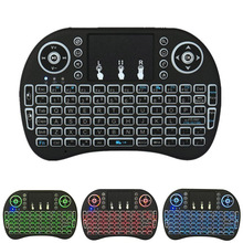 Mini Backlit Wireless Keyboard BK8 With Touchpad Multimedia Keys Keyset For PC Pad Android/Google TV Box HTPC IPTV PS3 Q