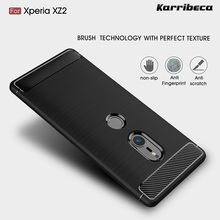 Buy Carbon fiber silicone case sony Xperia XZ2 funda coque hoesje rugged armor tpu brushed cover etui tok kryt husa kilifi for $5.82 in AliExpress store
