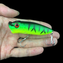 7cm 12g Fishing Lures Popper Topwater Floating bass sea pesca crank Lure swim bait high carbon steel hook Wobbler fishing tackle