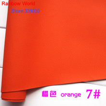 7# orange Micro Lychee Pattren high quality 1.2mm thick PU Leather fabric for DIY cars table bags bed material (140*50cm)