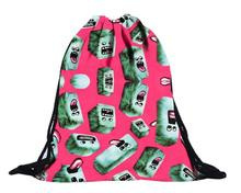 Pink Cartoon Backpacks 3D Printing Unisex Drawstring Travel Sports Camping Hiking Bag Boys Handbag Girls Child JL14Y(China)