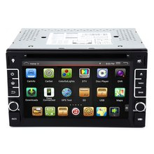 "New 6.2"" Android 4.4.4 Cortex A9 CPU 1GB RAM Car DVD Stereo Video Player GPS Navigation Console with Quad-Core Capacitive Screen"