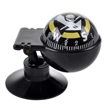 1PCS Black Color Compasses Pocket Ball Dashboard Dash Mount Navigation Compass Car Boat Truck Suction(China)