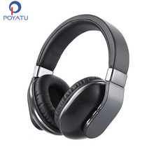 POYATU Stereo Headphones Bluetooth Wireless Headphones With Microphone On Ear Earphone Headphone For Phone Noise Cancelling