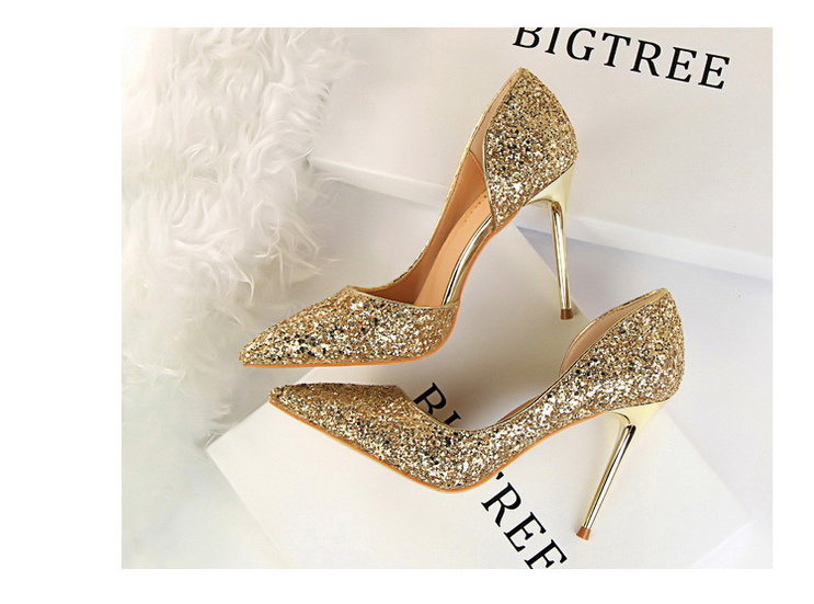 Gold Sexy High Heels Women Wedding Shoes