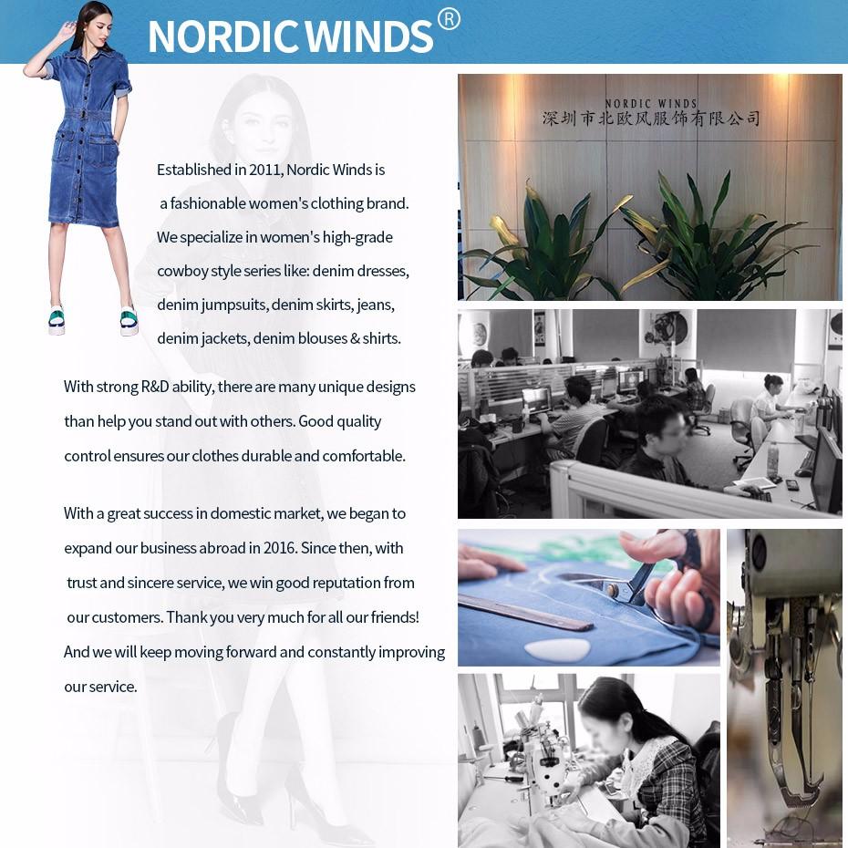 Nordic Winds Denim Dresses