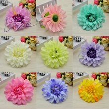 5pcs silk artificial corsage headdress daisy chrysanthemum dahlia flowers handmade diy decoration head