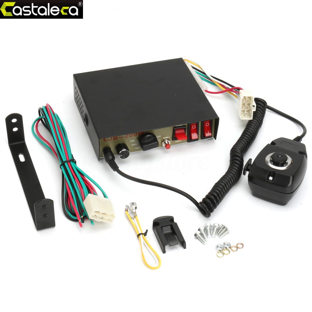 Remote Control 200W Car Alarm Siren