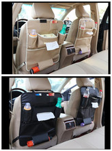 NEW Car-Styling PU Car seat back storage bag Car rear seat For Land Rover Range Rover Aurora Freelander 2 Found the line of God(China)
