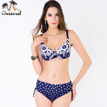 plus size swimwear large size Swimsuit bikini swimwear women female swimwear beach wear bathing suit bikini set plavky 4XL(China)