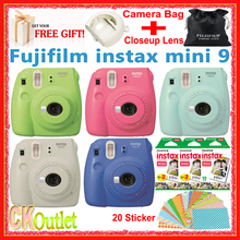 100% Original Fujifilm Instax Mini 9 + 50PCS Sheet Fujifilm mini White Film for Polaroid Instax Mini 8 70 90 NEo in 5 Colors